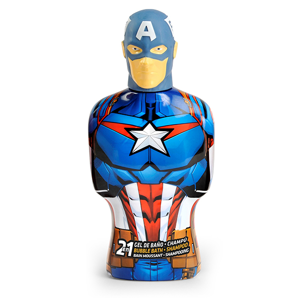 2-in-1 Gel And Shampoo Avengers Capitán América Cartoon (475 Ml)