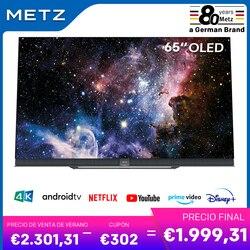 Televisión 65 pulgadas OLED TV METZ 65S9A62A ANDROID TV 9,0 Google asistente pantalla grande Control remoto por Voz 2 años de garantía