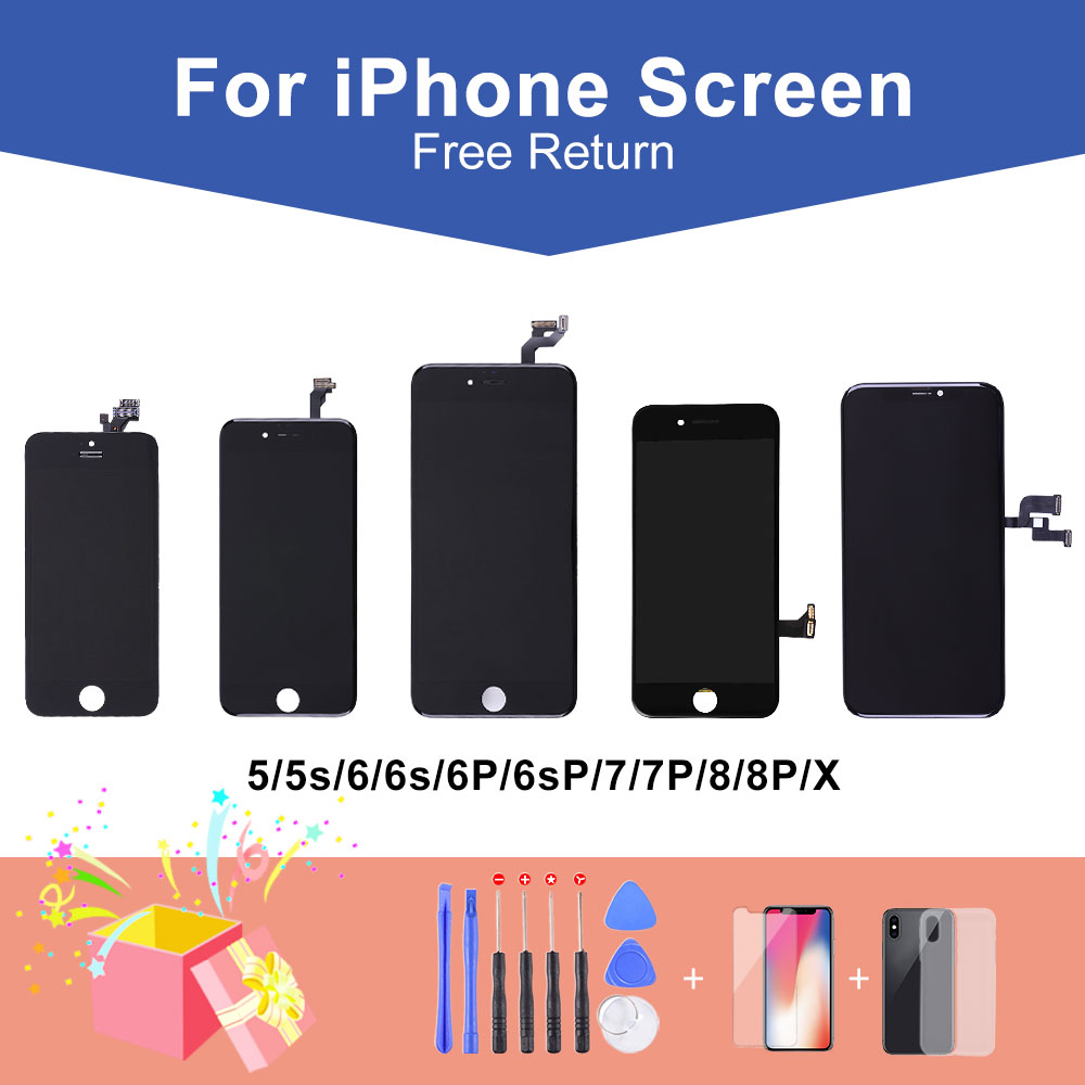 Elekworld Grade A+ For IPhone X XS XR 8/7/6s/6 Plus LCD Display Touch Screen Digitizer Assembly Replacement Parts For Iphone 5