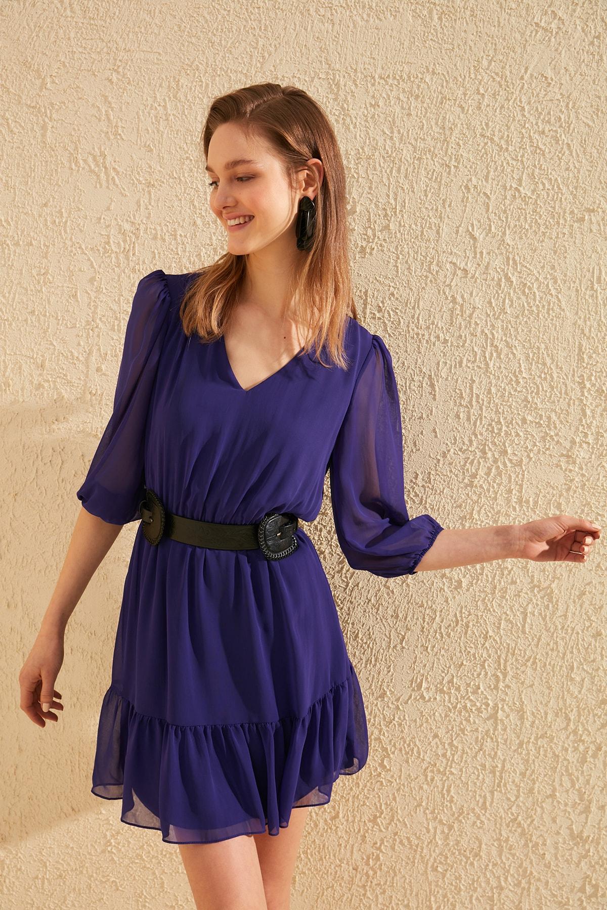 Trendyol Flounces Dress TWOSS20EL0822