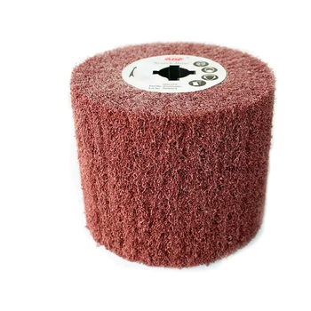 1Pcs 120mmX100mm Drum Non-Woven Fiber Abrasive Scouring Polishing Wheel Cylinder Buffing Drawing for Wire Drawing Machine - Category 🛒 Tools