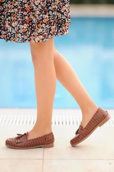 Różowe buty damskie Potin A0302-20 tanie i dobre opinie Pembe Potin Oksfordzie TR (pochodzenie) Sztuczna skóra Gumką Pasuje prawda na wymiar weź swój normalny rozmiar Na co dzień