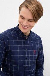 U.S. POLO ASSN. Темно-синяя квадратная Узкая рубашка