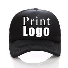 Gorra de béisbol con Logo personalizado para adultos y niños, gorro de camionero con personalidad, de poliéster, malla en blanco, 43 colores