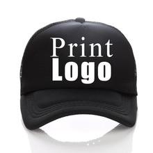 Baseball Cap Print Free Custom Logo 43 Colors Summer Adult Child Personality Trucker Hat Polyester Gorras Blank Mesh Cap Unises