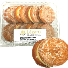 Lazarus crisps filled with vanilla cream, lemon, 300 grams, 8 units.