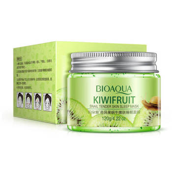 Night mask bioaqua kiwifruit snail tender skin sleep mask 120 ml huxley sleep mask good night