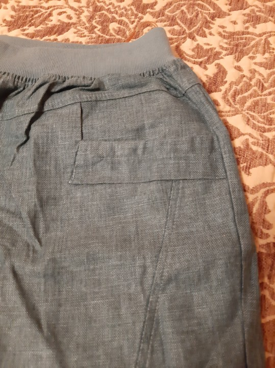 Summer Women Linen Harem Pants Middle Aged Lady Elastic Waist Loose Casual Pants Plus Size 4Xl Pocket Thin Female Trousers photo review