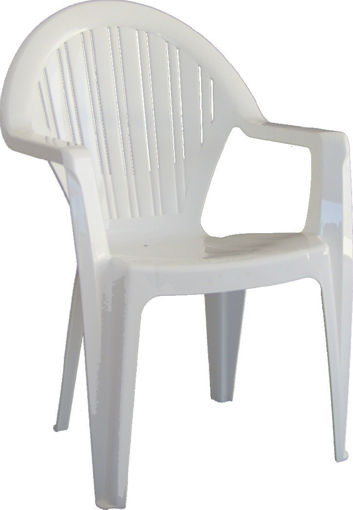 Armchair VITO, Monoblock, Stackable, White