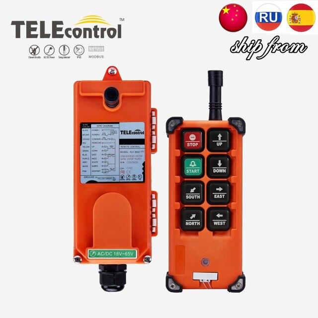 TELEcontrol UTING F21 E1B Industrial Radio Remote Control 12V 18 65V 65 440V AC DC Switches for Hoist Crane Lift
