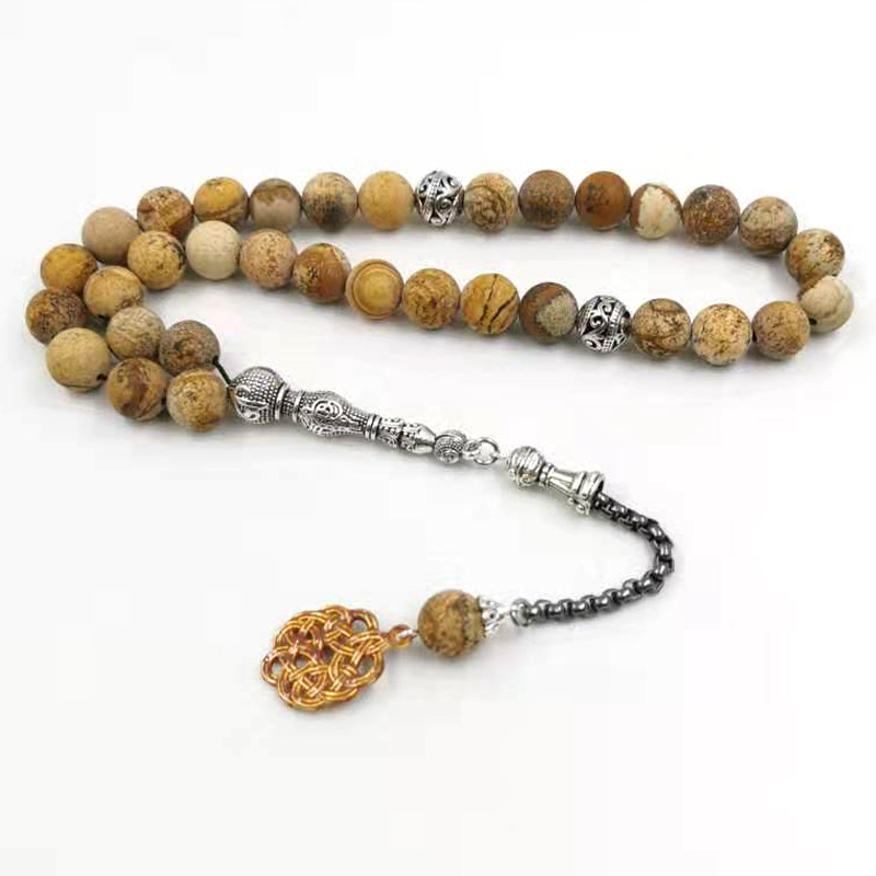Natural JASPERs stone tasbih Muslim Bracelets Man's misbaha Gift prayer beads islam Jewelry Saudi arabia Fashion Accessories