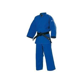 Judogi Mizuno Yusho azul con homologación antigua.