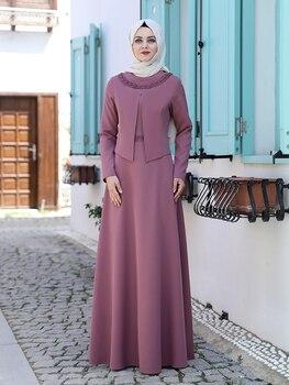 Women Muslim Dress Islamic Hijab Clothing Jacket Looking New Season One Piece Abaya High Quality Turkish Made Embroidered Dubai 1
