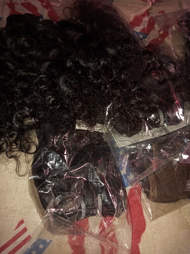 BHF Brazilian Remy 4 bundles Deep weave with closure 100% Natural Human Hair weaves 50g curly Hair ExtensionS short Bob style photo review
