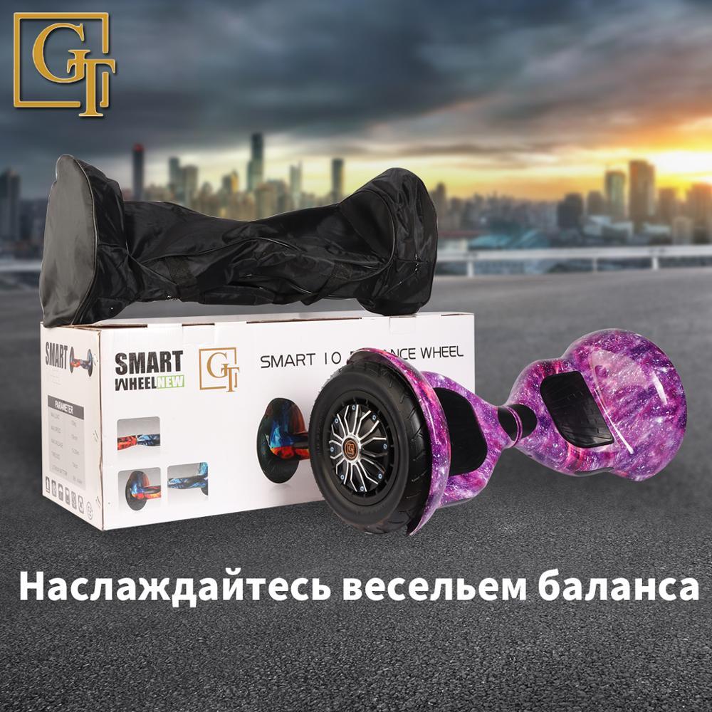 GyroScooter Hoverboard PT 10 pouces avec bluetooth deux roues intelligent auto équilibrage scooter 36V 800W forte planche de vol stationnaire