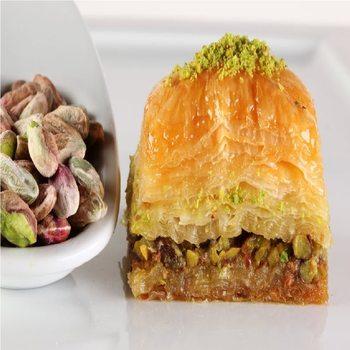 Słynny pistacjowy baklawa Gulluoglu (tajny przepis od 1871 roku) świeżo wyprodukowany bezpłatny SHİPPİNG tanie i dobre opinie Mężczyzna DE (pochodzenie)