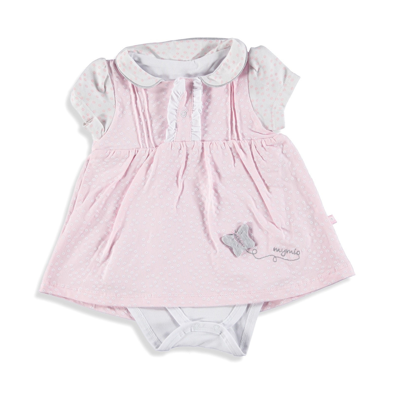 Ebebek Mymio Flamingo Baby Girl Interlock Dress Bodysuit