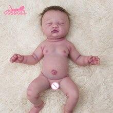 45cm realista reborn bebê da criança boneca de corpo inteiro silicone adorável bebês boneca muito macio bonecas banho brinquedo bonecas presente natal