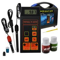 Digital pH / ORP mV / Temperature Meter Water Quality with ATC Detachable Temperature Probe Water Testing Tool Hydroponics