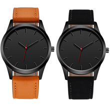 лучшая цена WJ-7126 Classic Minimalist Style Quartz Wristwatch Male Simple Leather Strap Watches Men Brand Watch Business часы  reloj hombre