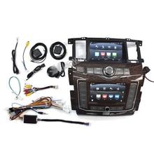 Автомагнитола на Android 10 для Nissan патруль Y62 -infiniti QX80 2010-2020, двойной экран, автомобильная стереосистема, мультимедийная автомагнитола, головное...