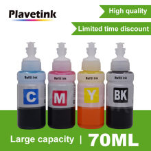 Plavetink 70ml 4 Bottle Refill Ink For Epson L550 L555 L566 L100 L110 L132 L200 L210 L222 L300 L362 L366 Printer Ink Kit(China)