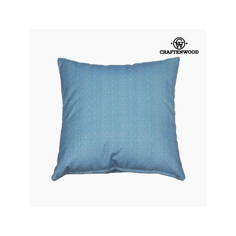 Puff Blue (90x90x25 Cm) By Craftenwood