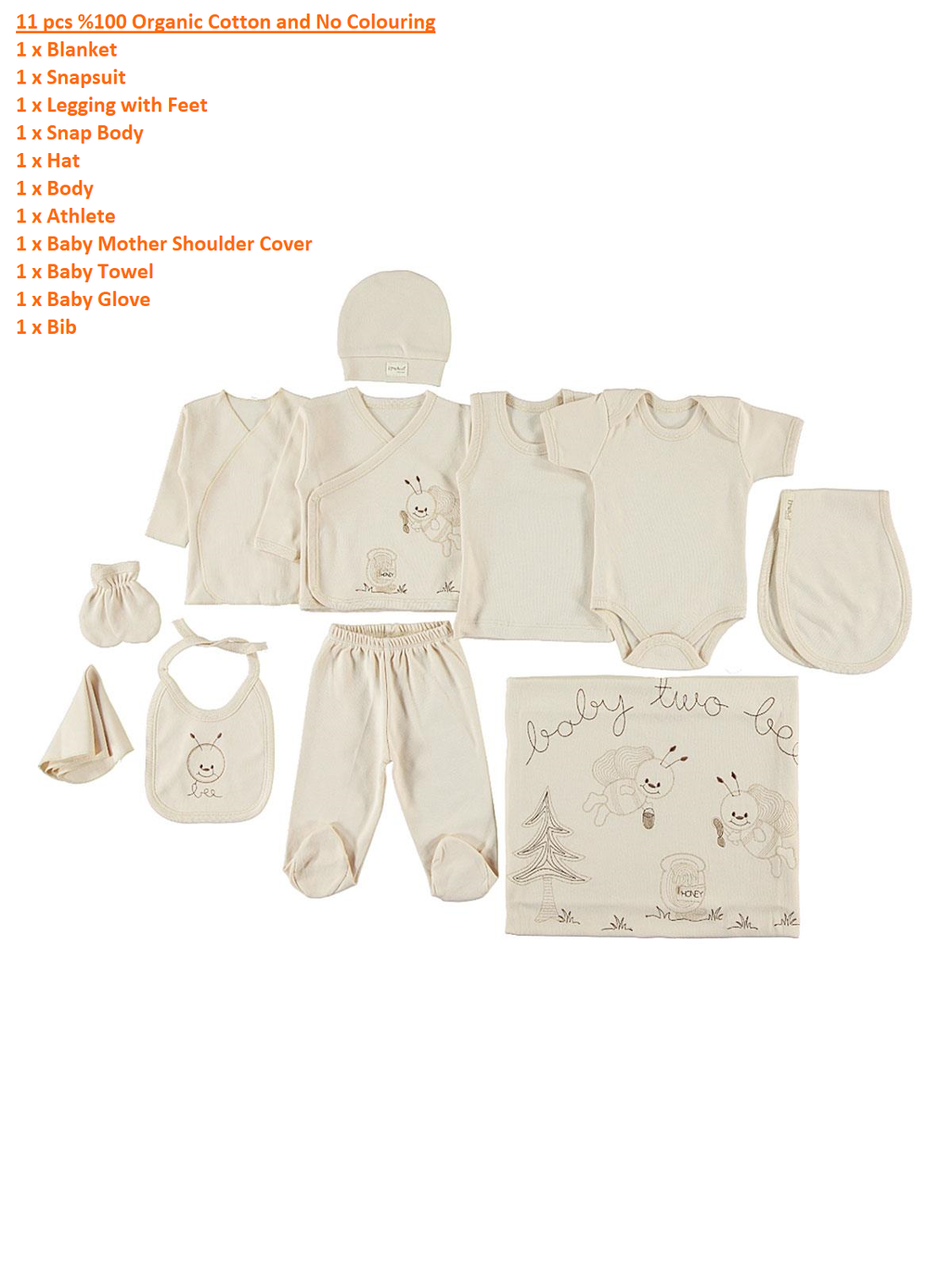 11Pcs & 8Pcs Silky Organic Newborn Hospital Pack Unisex Newborn Baby Clothes Infant Set Made In Turkey Fast Ship From Turkey