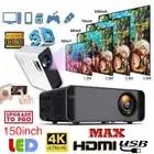 UNIC W80 светодиодный 4K 1080P проектор Full HD HDMI USB Mini Android Bluetooth lcd домашний кинотеатр медиаплеер HIFI 16:9 обычный