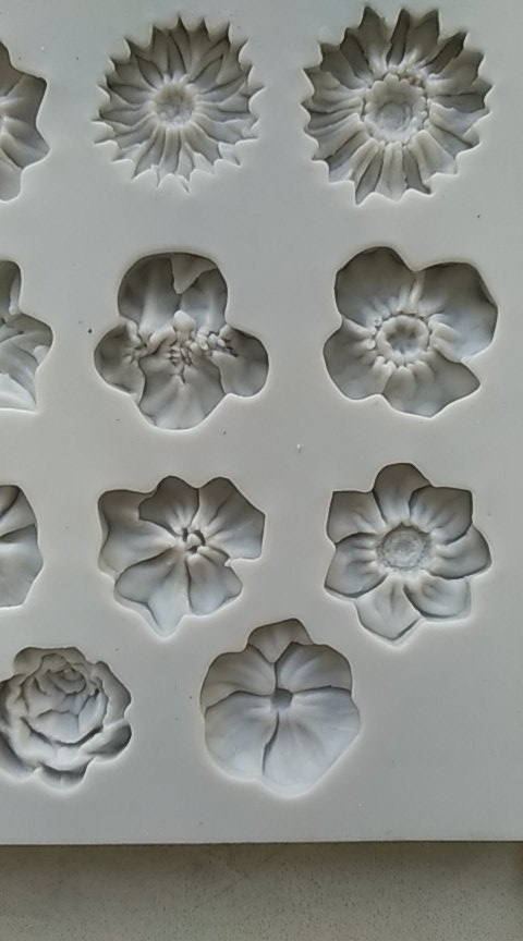 Flowers Silicone Mold For Cake Decorating photo review