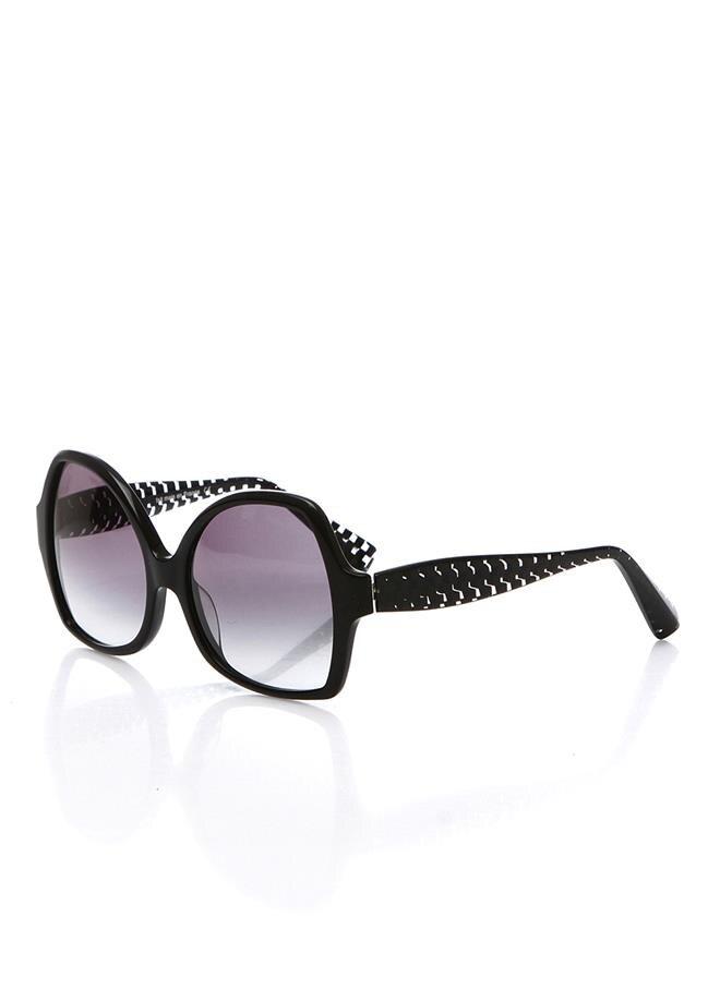 Women's sunglasses a 1308 a02g 4320 bone black organic oval aval 56-17-140 alain mikli