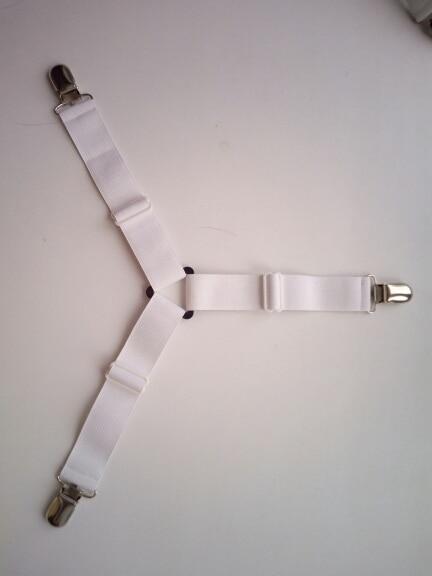 4Pcs Bed Sheet Clips w/ Belt Fastener for Mattress