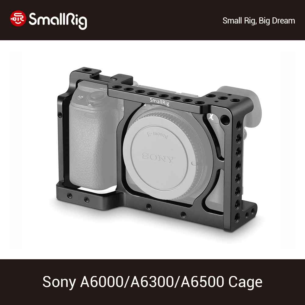 <font><b>SmallRig</b></font> a6300/a6000 DSLR Cage For Sony A6300/A6000 ILCE-6000/ILCE-<font><b>6300</b></font> /Nex-7 Form Fitting Camera Cage - 1661 image