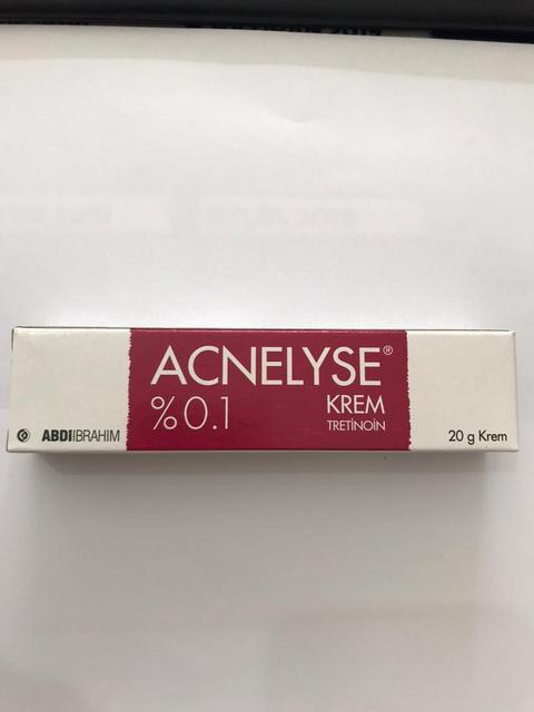 Acnelyse cream 0.1% -20 g acne, fine wrinkles beatiful skin face damage rays caused by the sun