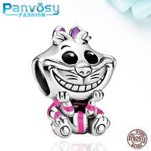 2020 New Style Smile Cute Cat 925 Sterling Silver Charms Bead Fit Pandora 925 Original Charm Bracelet DIY Beads Jewelry Making 925 sterling silver bead nossa senhora aparecida dangle charm beads fit pandora charms silver 925 original bracelet diy jewelry