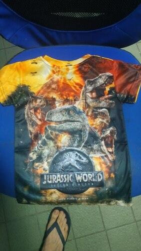 2020 Jurassic World Fallen Kingdom Cool Dinosaur Head 3D Print T shirt Boys and girls Hiphop Tee Tshirt Boy color Clothes Drop photo review