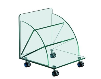 Table COIMBRA, low, wheels, Crystal, 38*38*43 cms