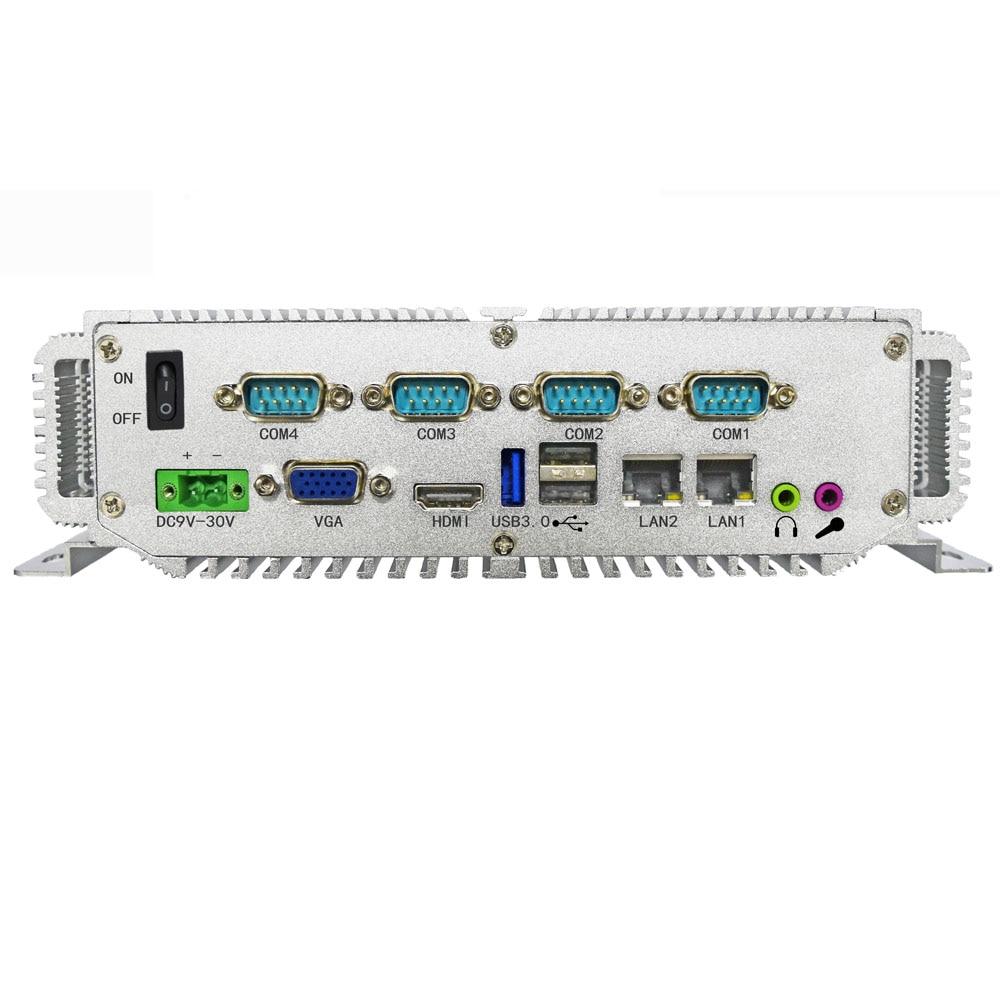 Miliary control industrial computer with intel celeron j1900 CPU 4G ram 64G SSD 2xLan mini pc