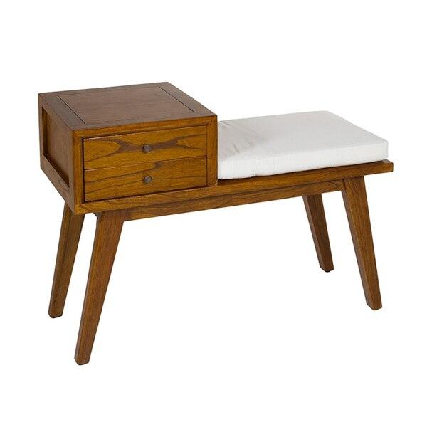 Bench (95 X 40 X 67 Cm) Walnut 2 Drawers