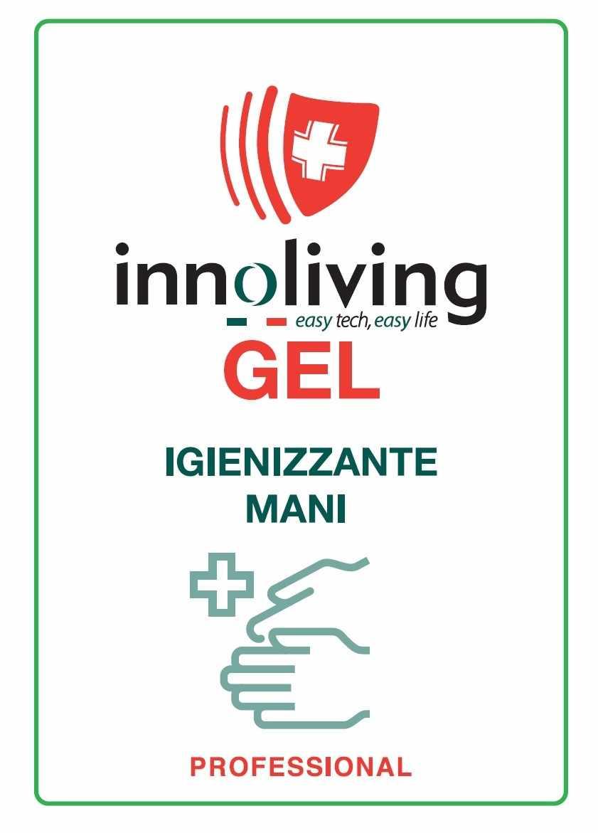 Kit de 6 paquetes de gel desinfectante de manos-80 ml INNOLIVING INMD-002