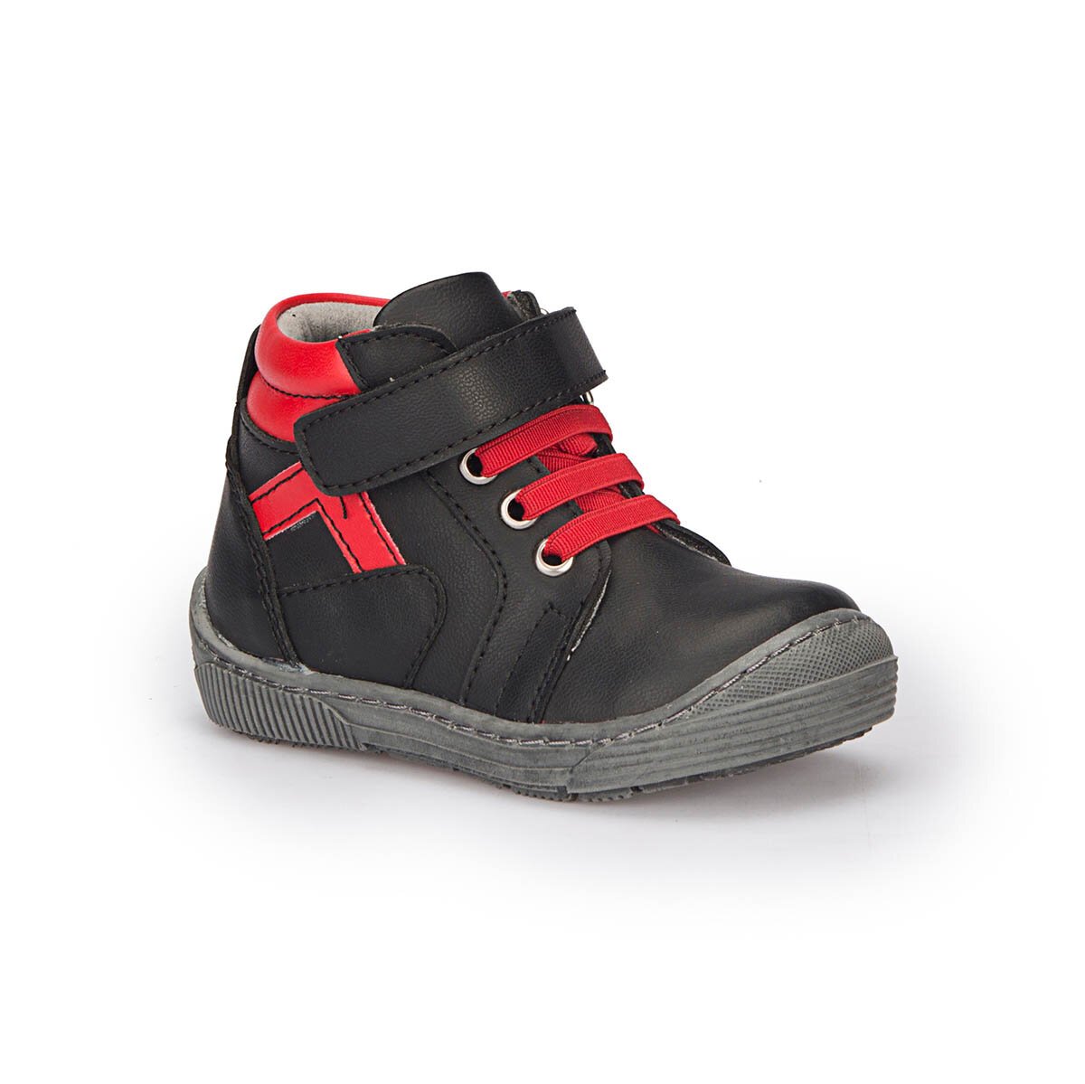 FLO 72.508428.B Black Male Child Sneaker Shoes Polaris