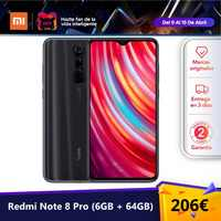 Xiaomi Redmi Note 8 Pro (64GB ROM, 6GB RAM, Cámara de 64 MP, Android, Nuevo y Libre) [Teléfono Movil Versión Global para España] note8pro