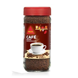 Delta Soluble coffee, jar with 100g