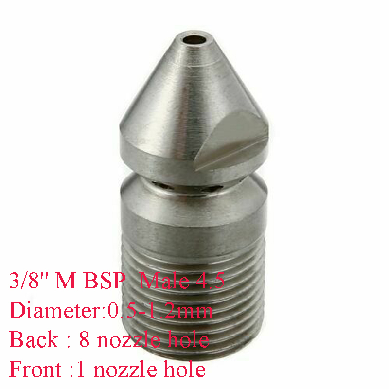 U5ff34dd998a64fb59792a282d73fc035T 1/4'' 3/8 '' Cleaning Nozzle Pressure Washer Drain Sewer Cleaning Pipe Jetter Spray Nozzle 4 Jet Garden Accessories Tools