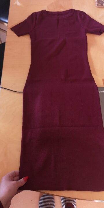 OCEANLOVE Sexy Dress Women Solid Bodycon Short Sleeve Summer Mini Dresses O neck Knitting Stretch Retro High Waist Vestido Dresses    - AliExpress