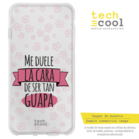 """FunnyTech®Silicone Case for Xiaomi My A3 L Phrase """"hurts face"""" transparent vers.2