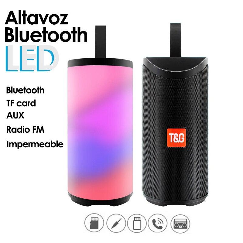 Портативный Bluetooth динамик 10 Вт стерео звук динамик Bluetooth 5,0 Громкая связь FM Водонепроницаемый светодиодный светильник