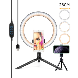 26/16CM Photography Lighting Phone Ringlight Tripod Stand Photo Led Selfie Bluetooth remote Ring Light Lamp TikTok Youtube Live