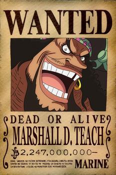 Poster Recompensa de ONE PIECE (A3: 28×43 cm) – MARSHALL D. TEACH Merchandising de One Piece Productos que enviamos en 3 días