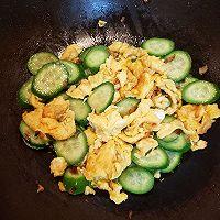 #太太乐鲜鸡汁芝麻香油#黄瓜炒鸡蛋的做法图解8